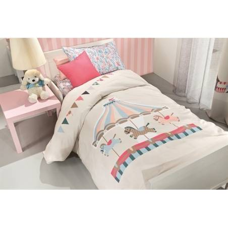Παπλωματοθήκη Carousel 100% cotton Saint Clair Paris 160x220