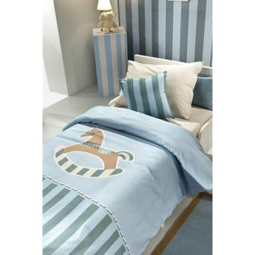Παπλωματοθήκη Toy Blue 100% cotton Saint Clair Paris 160x220 |