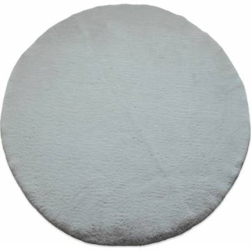 Γούνινο Στρογγυλό Χαλί (Φ160) Puffy T-FC6 Light Grey