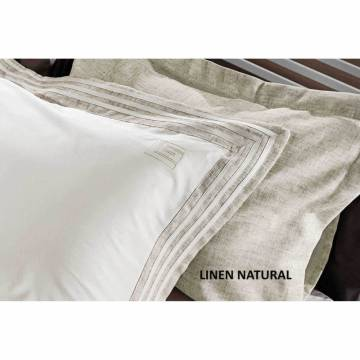 Μαξιλαροθήκες Guy Laroche Linen Natural 50x70