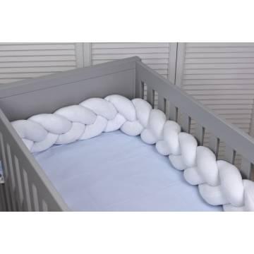 Πάντα Κούνιας - Πλεξούδα Baby Oliver Des 10 Λευκό