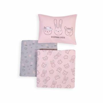 Σετ Σεντόνια Κούνιας Nef-Nef Fashion Baby Pink 120x170