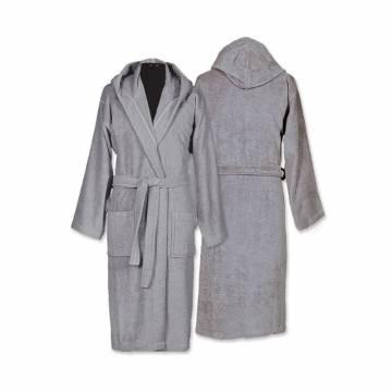 Μπουρνούζι Με Κουκούλα Nef-Nef Comfort Grey Large