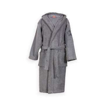 Μπουρνούζι Παιδικό Με Κουκούλα Nef-Nef Junior Kids  L Grey NO4