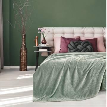 Κουβέρτα Fleece Rombus Olive 160x220 Guy Laroche | ΑΡΧΟΝΤΙΚΟ