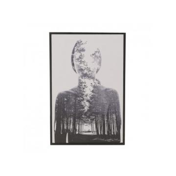 Πίνακας σε καμβά printed Γυναίκα/Δάσος 60εκ Inart 3-90-250-0014