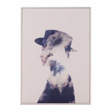 Πίνακας σε καμβά printed Γυναίκα/Σύννεφα 70εκ Inart